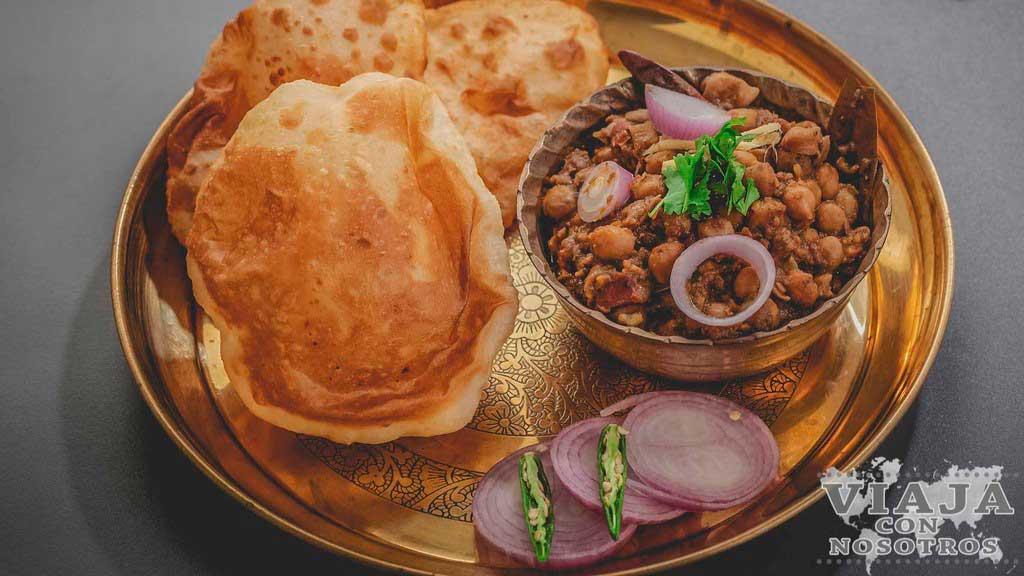 Chole Bhature comida India