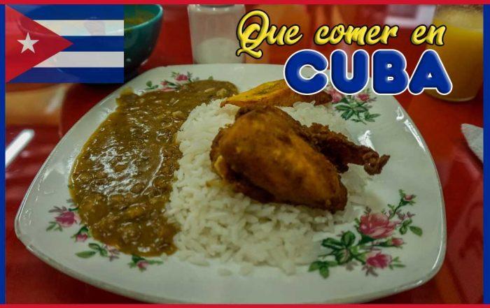 Que comer en Cuba