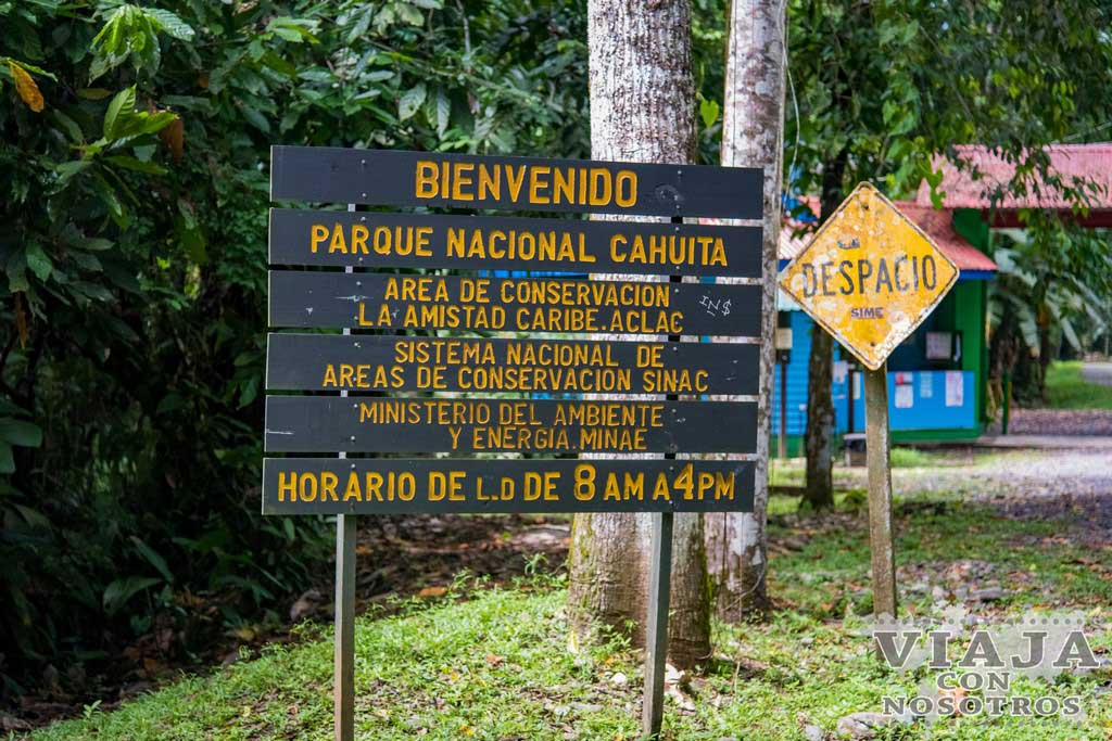 Horario del parque de Cahuita