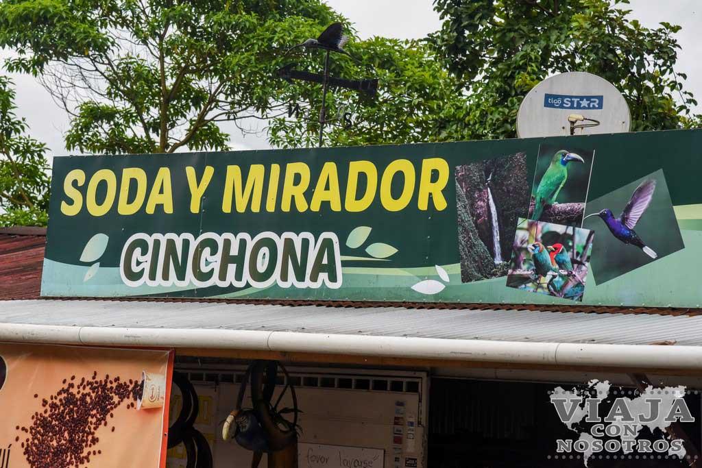 Soda y Mirador Cinchona